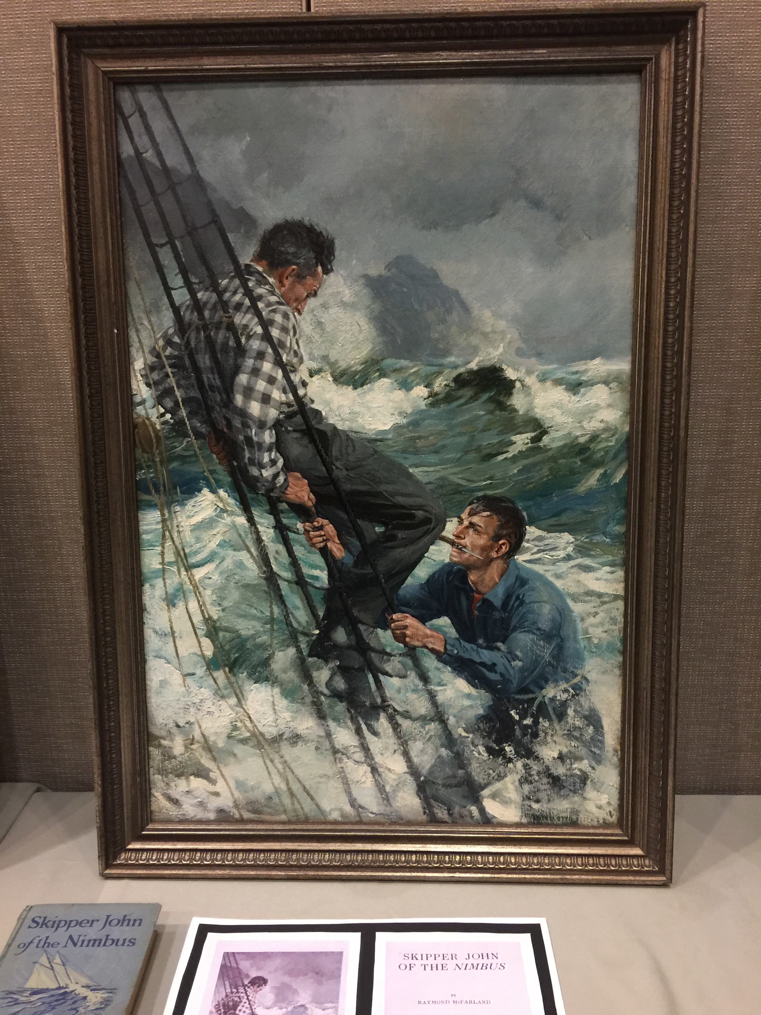 Anton Otto Fischer frontispiece for Skipper John of the Nimbus
